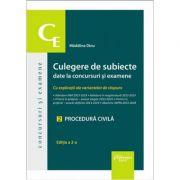 Culegere de subiecte date la concursuri si examene. 2 Procedura civila. Editia a 2-a. Cu explicatii ale variantelor de raspuns - Madalina Dinu
