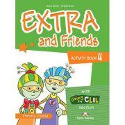 Curs limba engleza Extra and Friends 4 Caietul elevului - Jenny Dooley, Virginia Evans
