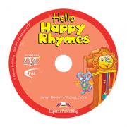 Curs limba engleza Hello Happy Rhymes DVD - Jenny Dooley, Virginia Evans