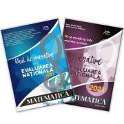 Pachet carti Evaluarea Nationala 2021 - Matematica - Ghid complet: repere teoretice - aplicatii recapitulative - modele teste simulare - 40 de teste - cu rezolvari complete