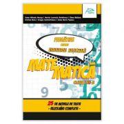 Matematica - 25 de modele de teste cu rezolvari - Pregatire pentru Evaluarea Nationala - clasa a VII-a