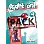 Curs limba engleza Right On 4 Caietul elevului cu Digibook App. - Jenny Dooley