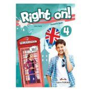 Curs limba engleza Right On 4 Manualul elevului cu Digibook App - Jenny Dooley