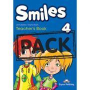 Curs limba engleza Smiles 4 Manualul Profesorului cu postere - Jenny Dooley, Virginia Evans