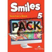 Curs limba engleza Smiles 5 Manualul Profesorului cu postere - Jenny Dooley, Virginia Evans