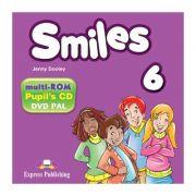 Curs limba engleza Smiles 6 Multi-ROM - Jenny Dooley, Virginia Evans