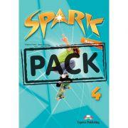 Curs limba engleza Spark 4 Monstertrackers Caietul elevului cu Digibook App - Virginia Evans, Jenny Dooley