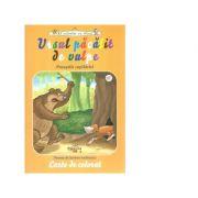 Ursul pacalit de vulpe. Carte de colorat