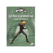 Cat Noir si prietenii sai. Carte de colorat