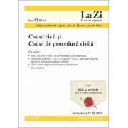 Codul civil si Codul de procedura civila. Cod 725. Actualizat la 22. 10. 2020 - Flavius-Antoniu Baias