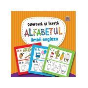 Coloreaza si invata alfabetul limbii engleze. Carte de colorat