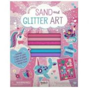 Folder of Fun. Sand and Glitter Art