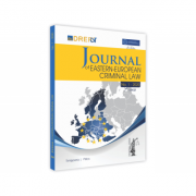 Journal Of Eastern European Criminal Law Issue 1/2020
