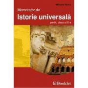 Memorator de istorie universala pentru clasa a IX-a - Mihaela Nancu