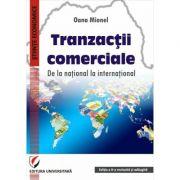 Tranzactii comerciale. De la national la international - Oana Mionel