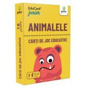 Animalele. EduCard Junior. Carti de joc educative
