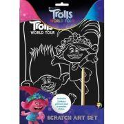 Trolls 2 Scratch Art Set - set imagini razuibile