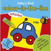 Baby's First Colour-in-the-line - prima carte de colorat cu vehicule
