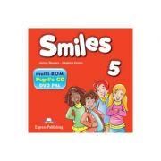 Curs limba engleza Smiles 5 Multi-rom - Jenny Dooley, Virginia Evans