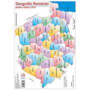 Harta Geografia Romaniei pentru clasa a IV-a - Cristina Moldovan