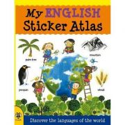 My English Sticker Atlas - Catherine Bruzzone, Illustrated by Stu McLellan
