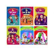 Pachet 6 carti Povesti care modeleaza caracterul copiilor. 1. Politetea 2. Prudenta 3. Loialitatea 4. Multumesc 5. Imi pare rau 6. Cum iti faci prieteni