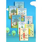 Pachet Mare Hoinari prin anotimpuri. 4 carti ilustrate + 4 carti de colorat - Rotraut Susanne Berner