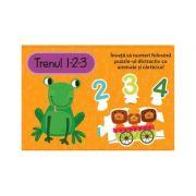 Trenul 1-2-3. Carte cu puzzle - Louise Buckens