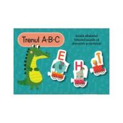 Trenul A-B-C Set cu puzzle - Louise Buckens
