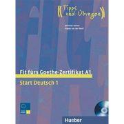 Fit furs Goethe-Zertifikat A1 Lehrbuch mit integrierter Audio-CD Start Deutsch 1 - Johannes Gerbes, Frauke van der Werff