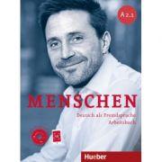 Menschen A2. 1 Arbeitsbuch mit Audio-CD - Anna Breitsameter, Sabine Glas-Peters, Angela Pude