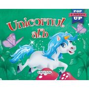 Pop-up Unicornul alb