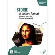Storie di italiani famosi (libro + audio online) Livello A1/A2 - 1000 parole/Povesti ale unor italieni celebri. Nivelul A1/A2 -1000 de cuvinte(carte + audio online) - Maurizio Sandrin