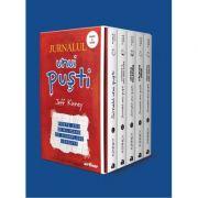 Set Jurnalul unui pusti ( volumele 1- 5, editie paperback) - Jeff Kinney