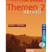 Themen aktuell 2 Kursbuch und Arbeitsbuch mit integrierter Audio-CD Lektion 1–5 - Hartmut Aufderstrasse