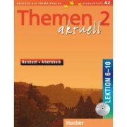 Themen aktuell 2 Kursbuch und Arbeitsbuch mit integrierter Audio-CD Lektion 6–10 - Hartmut Aufderstrasse