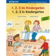 1, 2, 3 im Kindergarten Kinderbuch Deutsch-Englisch - Susanne Bose, Isabelle Dinter