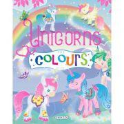 Carte de colorat. Unicorns Colours - mov