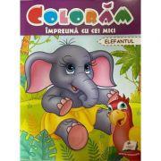 Coloram impreuna cu cei mici. Elefantul