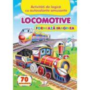 Locomotive. Formeaza imaginea. 70 autocolante
