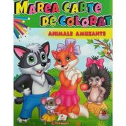 Marea carte de colorat. Animale amuzante
