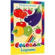 Privim si coloram. Coloram legume