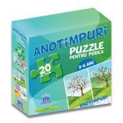 Puzzle pentru podea - Anotimpuri (puzzle podea 50/70 + afis 50/70)