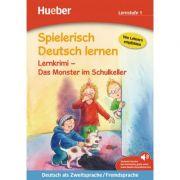 Spielerisch Deutsch lernen Lernkrimi Das Monster im Schulkeller Buch mit MP3-Download - Annette Neubauer