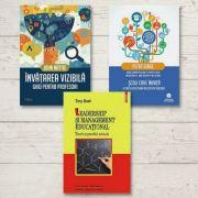 Pachet complet de carti pentru concursul de directori de scoli 2021 - Invatarea vizibila, Leadership si management educational si Scoli care invata