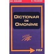 Dictionar de omonime de buzunar - Nicolae Felecan