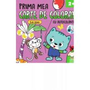 Prima mea carte de colorat cu autocolante. La zoo