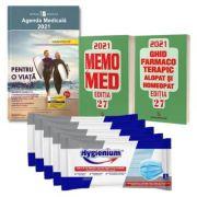 Pachetul Farmacistului Agenda Medicala 2021 si MemoMed 2021 + 25 masti Hygienium CADOU