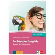 44 Aussprachespiele, Buch + 2 Audio-CDs + Online-Angebot. Deutsch als Fremdsprache - Ursula Hirschfeld, Kerstin Reinke