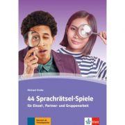 44 Sprachratsel-Spiele. Fur Einzel-, Partner- und Gruppenarbeit. Arbeitsblatter, Kopiervorlagen - Michael Dreke